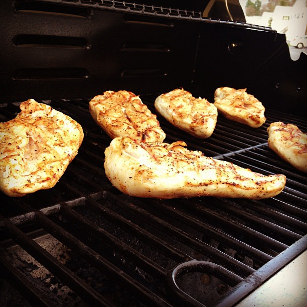 Grilling up some chicken!